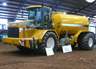 On show at the Soil and Water Management Centre, the Challenger TerraGator 2104 is equipped with many soil-friendly features