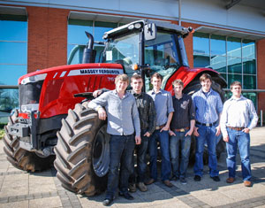 Sponsored by Massey Ferguson, the team visited the company's UK offices at Abbey Park Stoneleigh.