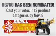 RG700 Sprayer Nominated for No-Till Product of the Year