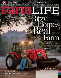 Kevin Payne, Biltmore's farm manager, is on the cover of the Winter issue of the Massey Ferguson customer magazine, FarmLife.