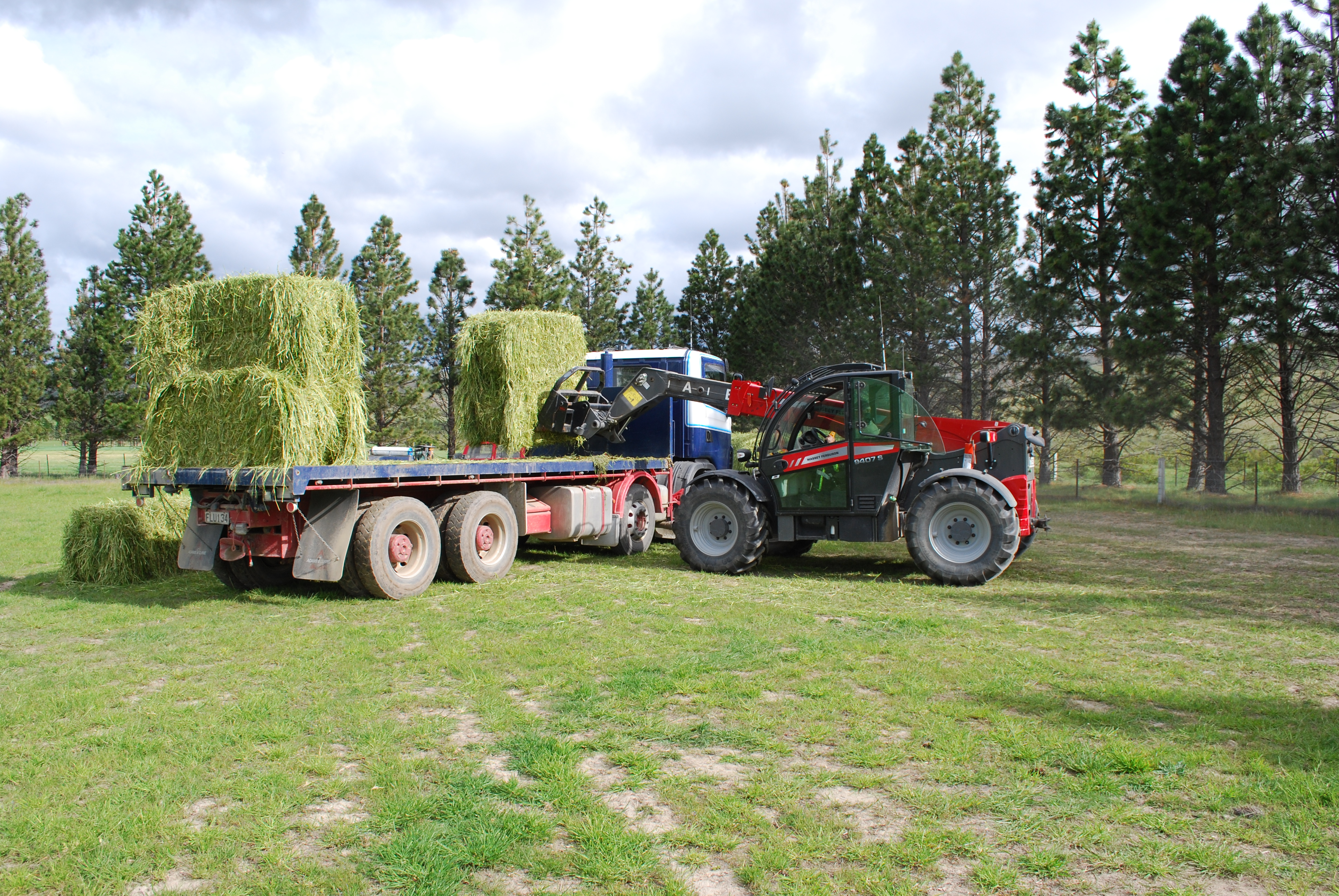 Massey Ferguson Combination Provides High-performance and Hassle-Free Operation for Hay Contractor.