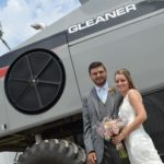 AGCO employee uses Gleaner combine in his wedding.