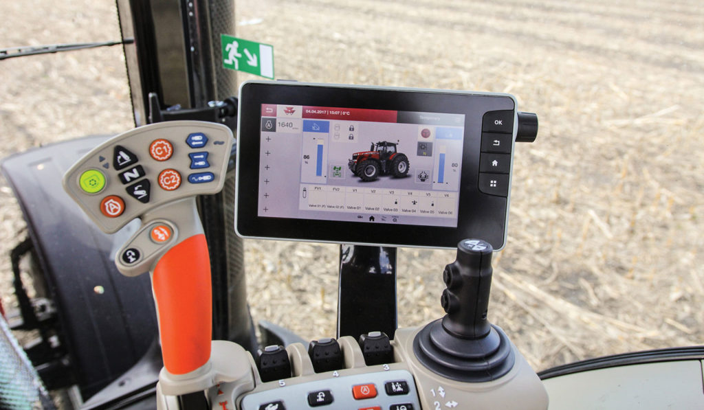 The new Datatronic 5 Control Center Display available on Massey Ferguson 8700 Series Tractors.