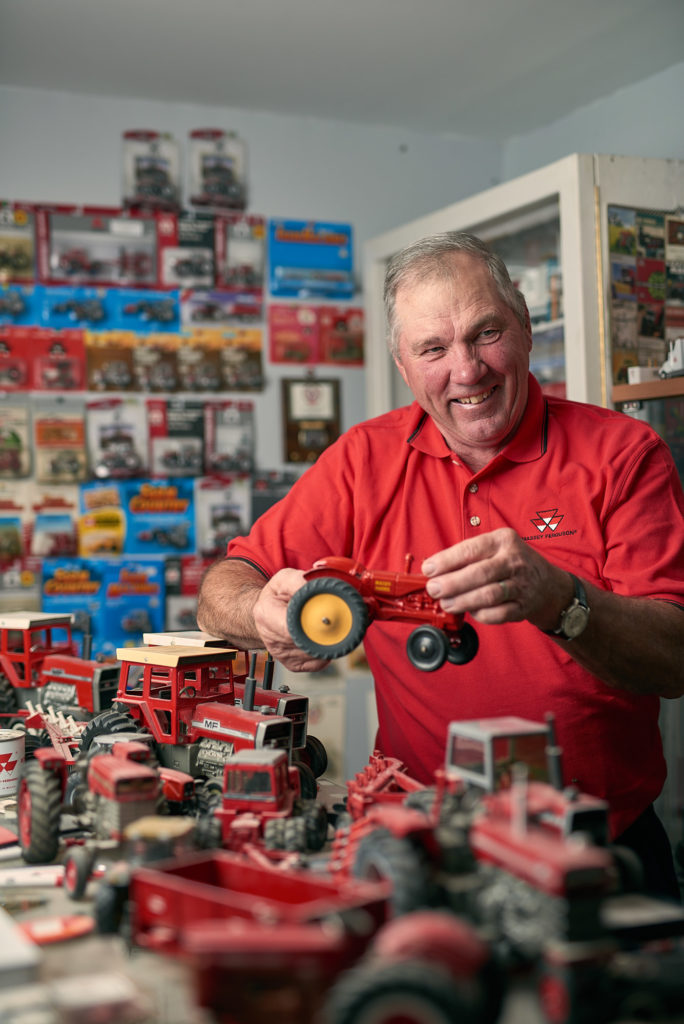 Wayne Conboy's Massey Ferguson toy tractor collection.