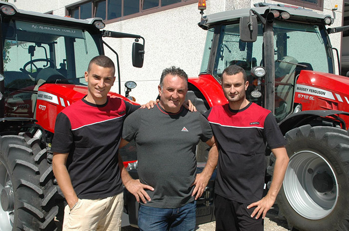 Gianluca, Luigi and Michele Turco - Crop and vegetable farmers from Lesina FG, Italy.