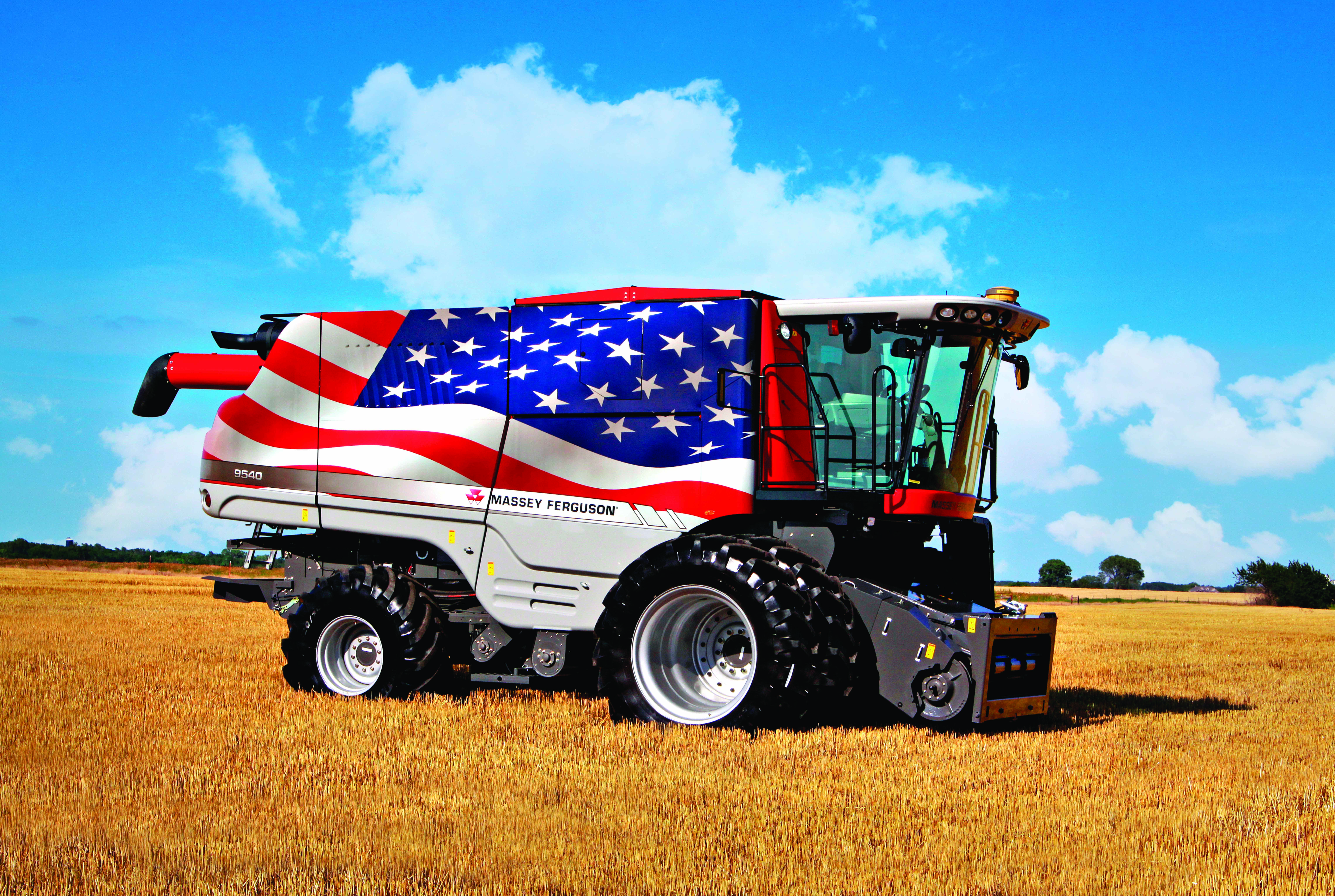 Massey Ferguson Stands Out Above Amber Waves Of Grain Agco Blog
