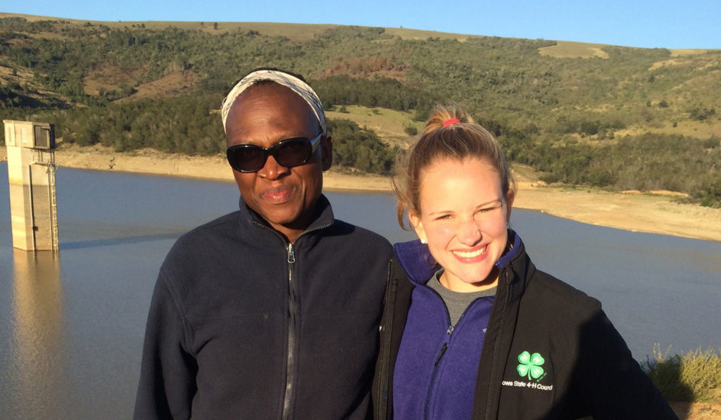FFA member in South Africa learning about Agronomy.