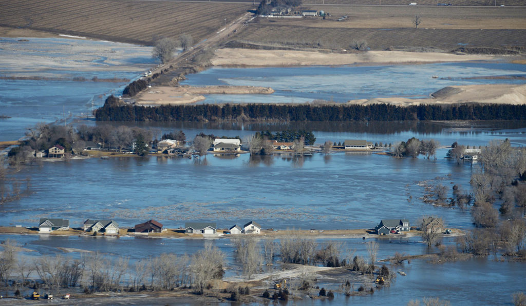 Governor Pete Ricketts, the Adjutant General Conduct Aerial Observation of Nebraska Flooding