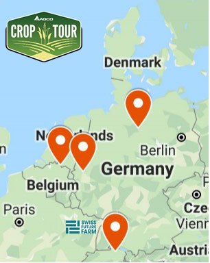 Figure 1. AGCO Crop Tour locations in Western Europe